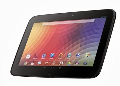 Tablet Nexus 10 akan diluncurkan bulan Oktober 2013