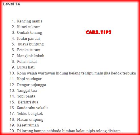 cheat tebak gambar apk level 14