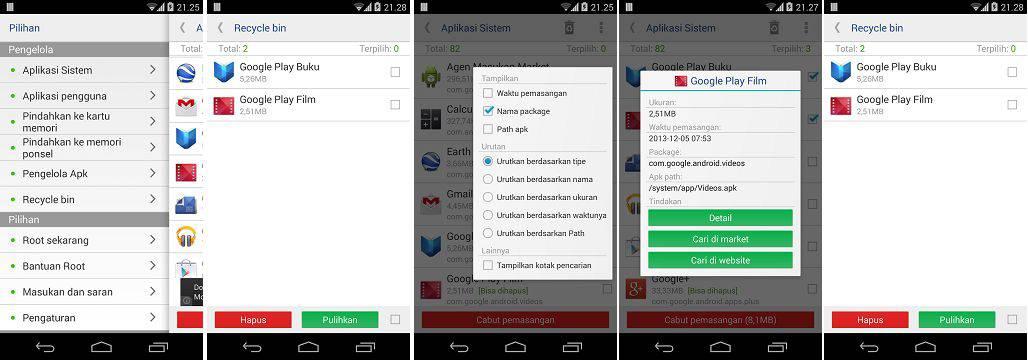 cara menggunakan system app remover