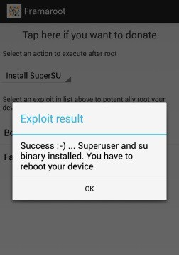 menggunakan framaroot for root android
