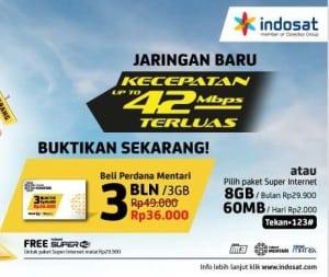 Kartu internet Mentari Gratis BBM dan Super wiFi
