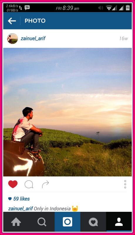 cara menyimpan foto instagram