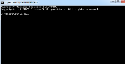 tampilan command prompt