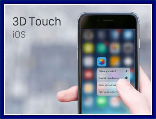 teknologi 3d touch iphone