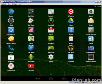 proses install android di virtualbox pc selesai
