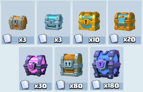 Chest game clash royale