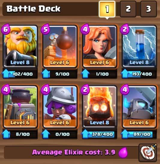 contoh deck kuat clash royale
