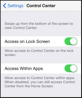Cara Meningkatkan Keamanan iPhone matikan control center