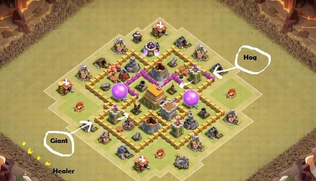 strategi serangan kombo giant healer