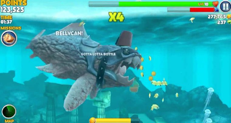 Cara Cheat Game Hungry Shark Android