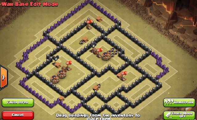 Gambar Base War Terkuat Anti Pekka Sama Naga TH8 COC