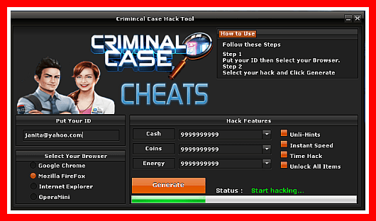 cheat criminal case