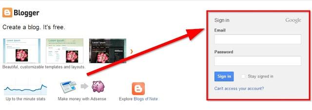 cara hapus blog blogspot harus login dulu