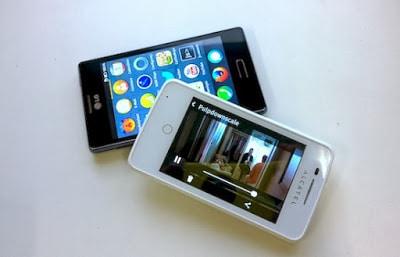 Alcatel One Touch Fire dan LG Fireweb Smartphone berbasis Firefox OS