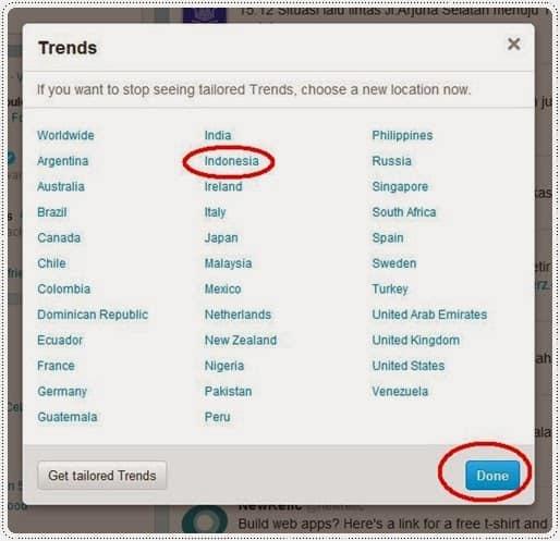 cara melihat trending topic indonesia di twitter