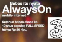 Daftar Harga Paket Internet 3 Terbaru