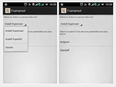 cara menggunakan framaroot untuk root android