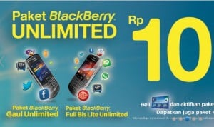 Paket BlackBerry XL Unlimited Bulanan Cuma 10 Ribu
