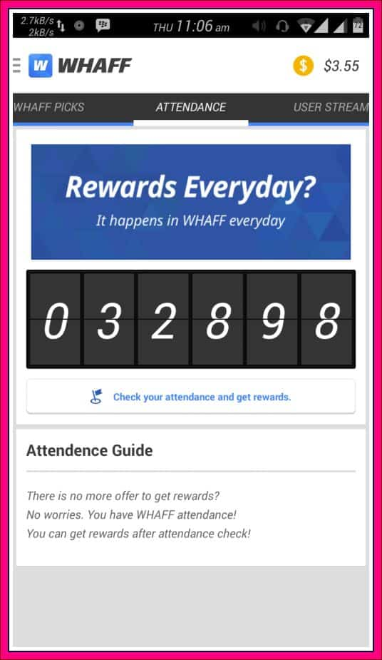 rewards dari whaff