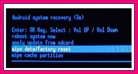 factory reset android boot loop