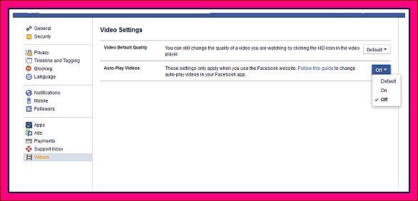 mematikan fitur auto play video facebook