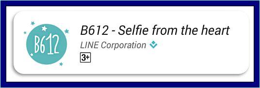 aplikasi kamera android terbaik B612-Selfie from heart