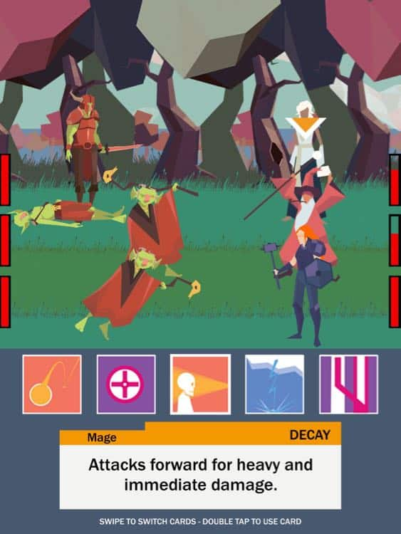 Game RPG Tactical iPhone Terbaru, Five Card Quest