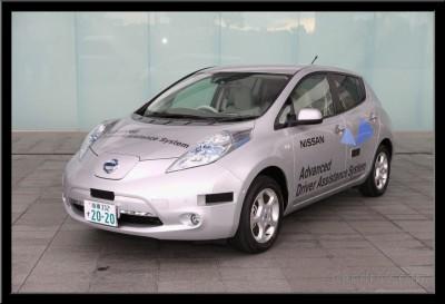 Driverless Nissan Leaf