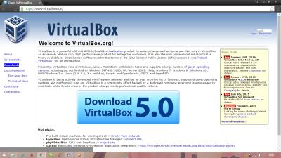 Pilih virtualbox
