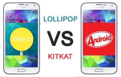 perbedaan kitkat dan lollipop