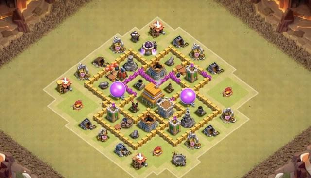 Gambar Desain Base War COC TH 6