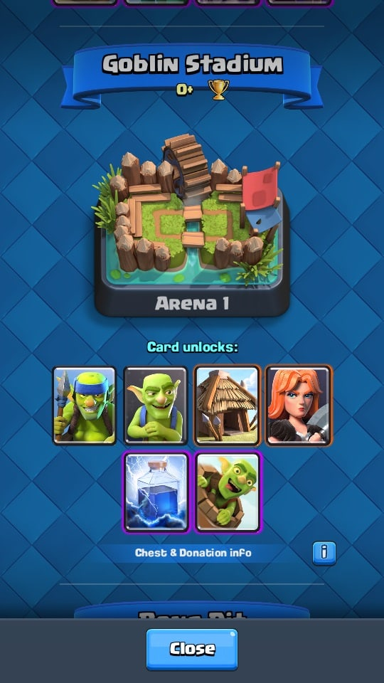 arena di game clash royale