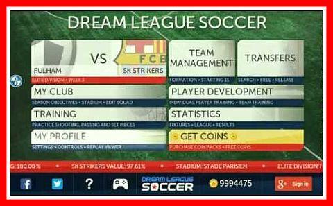 cara cheat Dream League Soccer