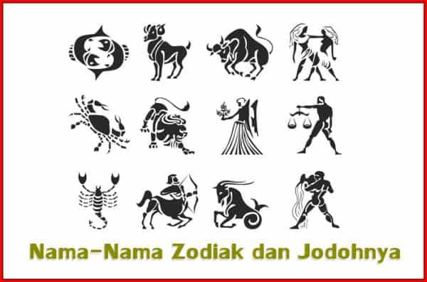 Nama-Nama Zodiak dan Jodohnya