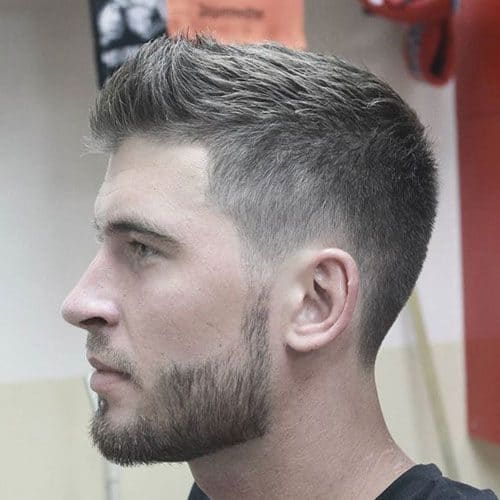 gaya rambut pria short and beard