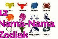 Nama Nama Zodiak dan Artinya
