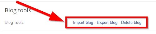 untuk hapus blog, pergi ke settings trus others