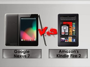 Perbandingan Google Nexus 7 dengan Amazon Kindle Fire HD