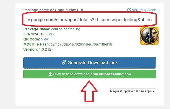 masukan link aplikasi