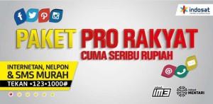 Paket Internet Indosat Pro Rakyat Cuma 1000