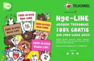 Paket Line Gratis Telkomsel