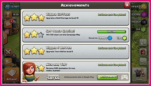 selesaikan misi coc dapatkan rewards