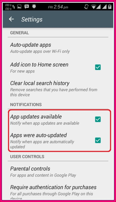 cara menonaktifkan pembaharuan aplikasi android