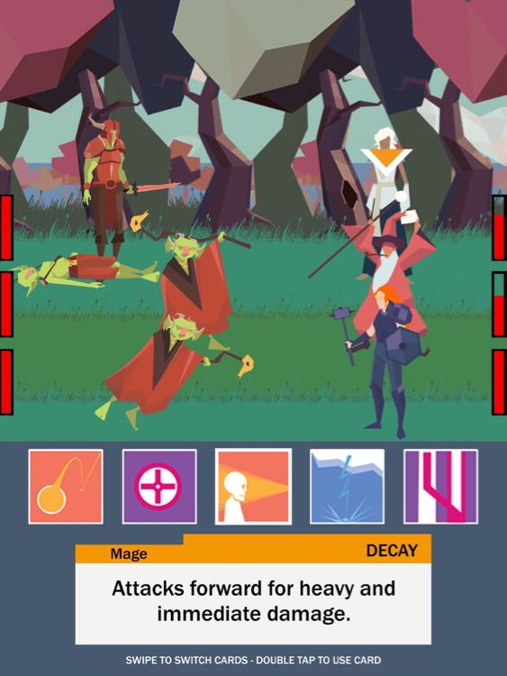 Game RPG Tactical iPhone Terbaru, Five Card Quest