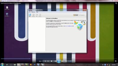tampilan awal virtualbox