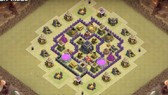 Gambar Base War COC TH 6