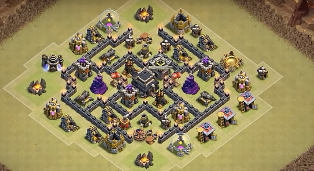 Desain Base War coc th 6