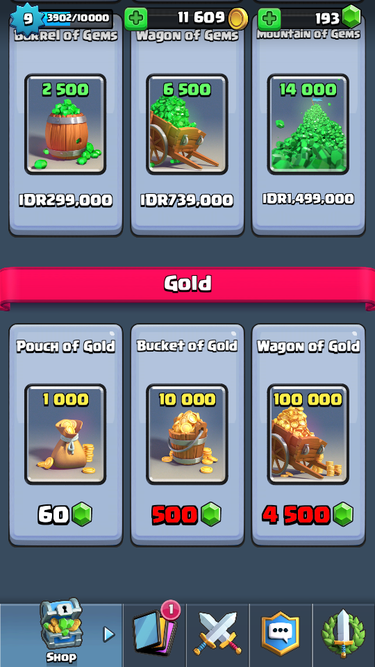gold clash royale
