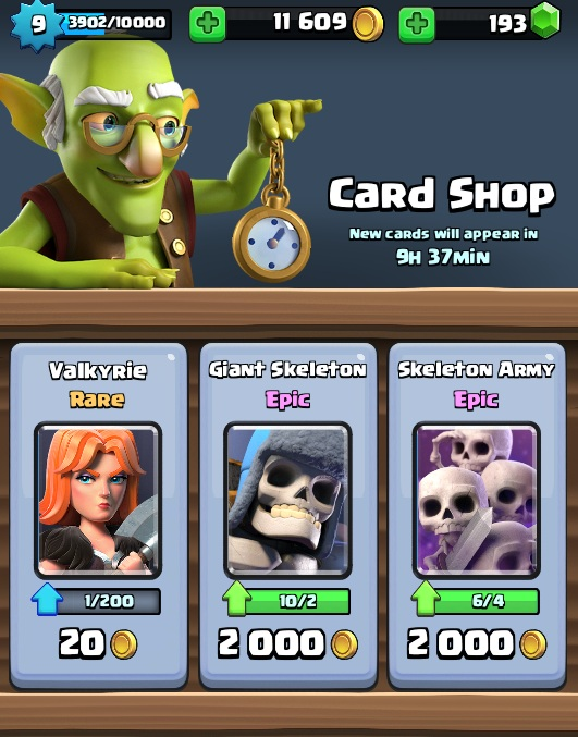 clash royale shop